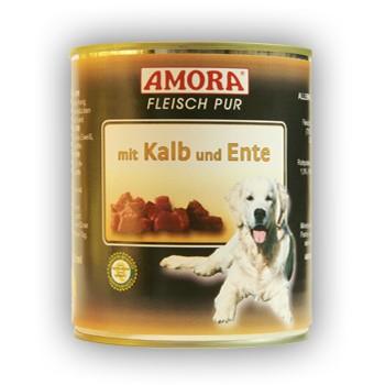 Amora Dog Fleisch Pur mit Kalb und Ente 800 g