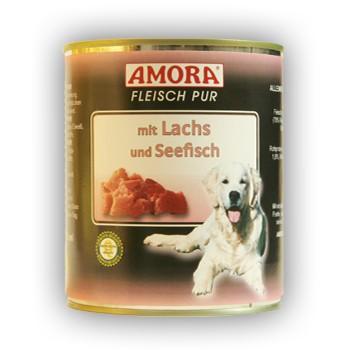 Amora Dog Fleisch Pur mit Lachs und Seefisch 800 g