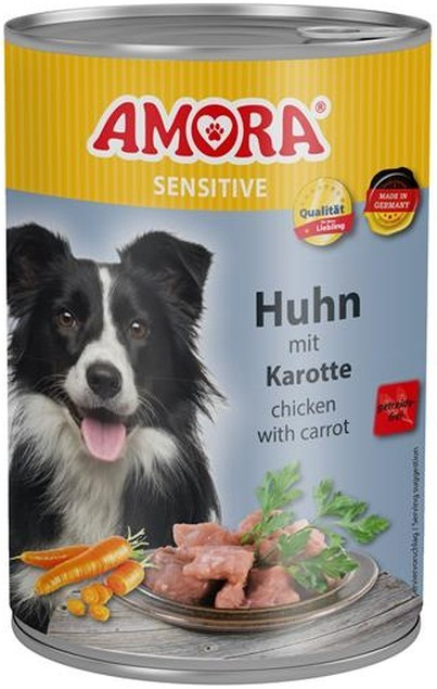 Amora Dog Sensitive Adult Huhn mit Karotte 400 g oder 800 g