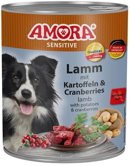 Amora Dog Sensitive Adult Lamm mit Kartoffeln & Cranberries 400 g oder 800 g