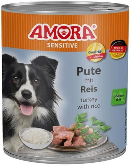 Amora Dog Sensitive Adult Pute und Reis 400 g oder 800 g