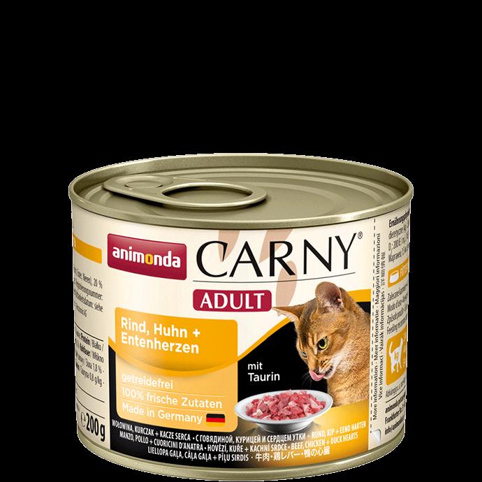 Animonda Cat Carny Adult Rind, Huhn & Entenherzen 200 g