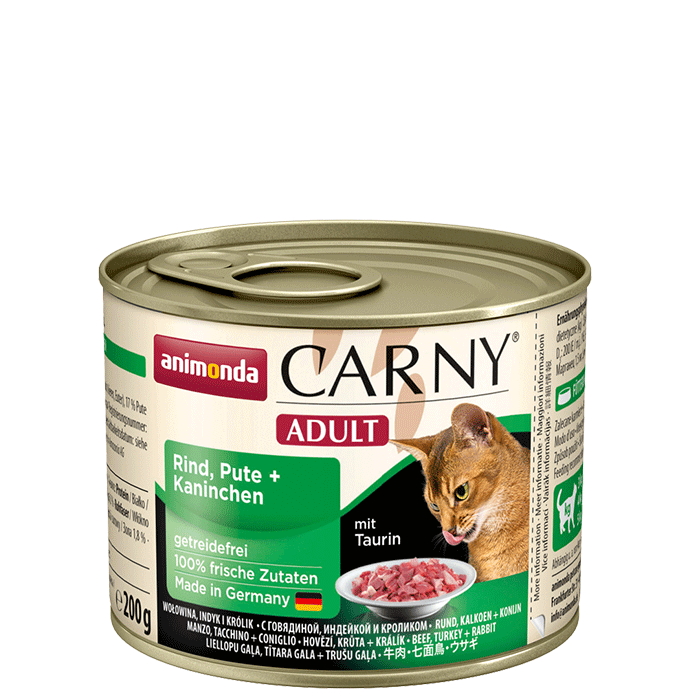 Animonda Cat Carny Adult Rind, Pute & Kaninchen 200 g