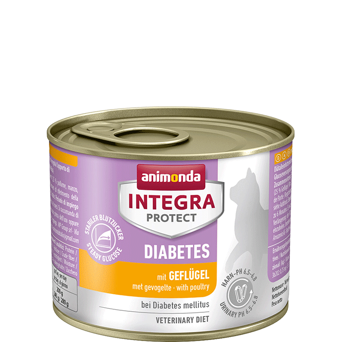 Animonda Cat Integra Protect Diabetes Adult mit Geflügel 12 x 200 g