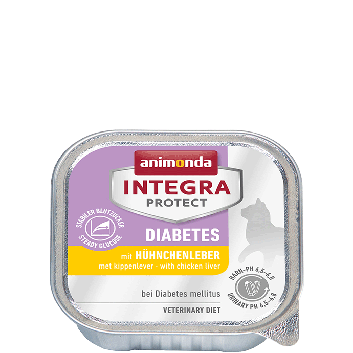 Animonda Cat Integra Protect Diabetes Adult mit Hühnchenleber 16 x 100 g