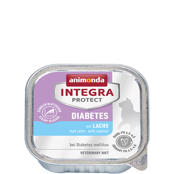 Animonda Cat Integra Protect Diabetes Adult mit Lachs 16 x 100 g