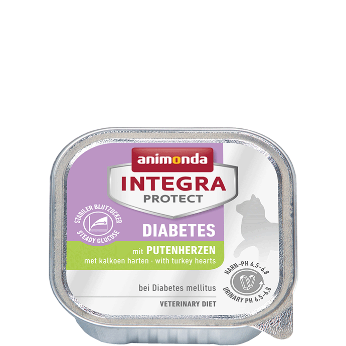 Animonda Cat Integra Protect Diabetes Adult mit Putenherzen 16 x 100 g