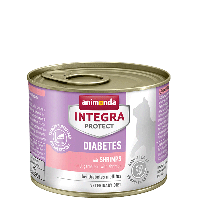 Animonda Cat Integra Protect Diabetes Adult mit Shrimps 12 x 200 g