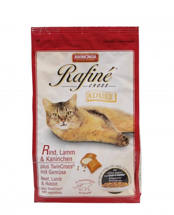 Animonda Cat Rafiné Cross Adult mit Rind, Lamm und Kaninchen 1,5 kg oder 15 kg (SPARTIPP: unsere Staffelpreise)