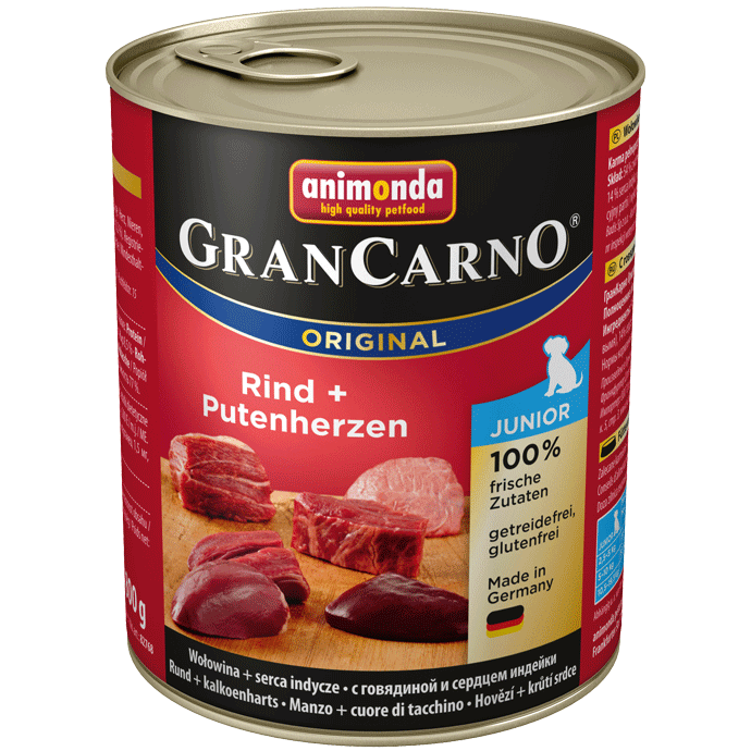 Animonda Dog Gran Carno Original Junior Rind und Putenherz 800 g