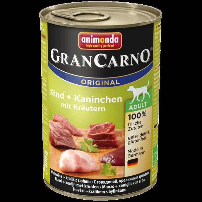 Animonda Dog Gran Carno Original Adult Kaninchen und Kräuter 400 g
