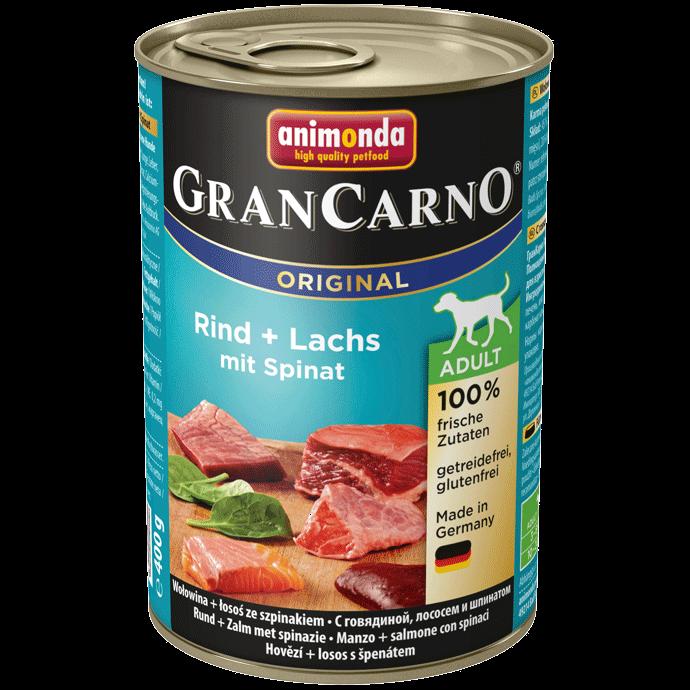 Animonda Dog Gran Carno Original Adult Lachs und Spinat 12 x 400 g