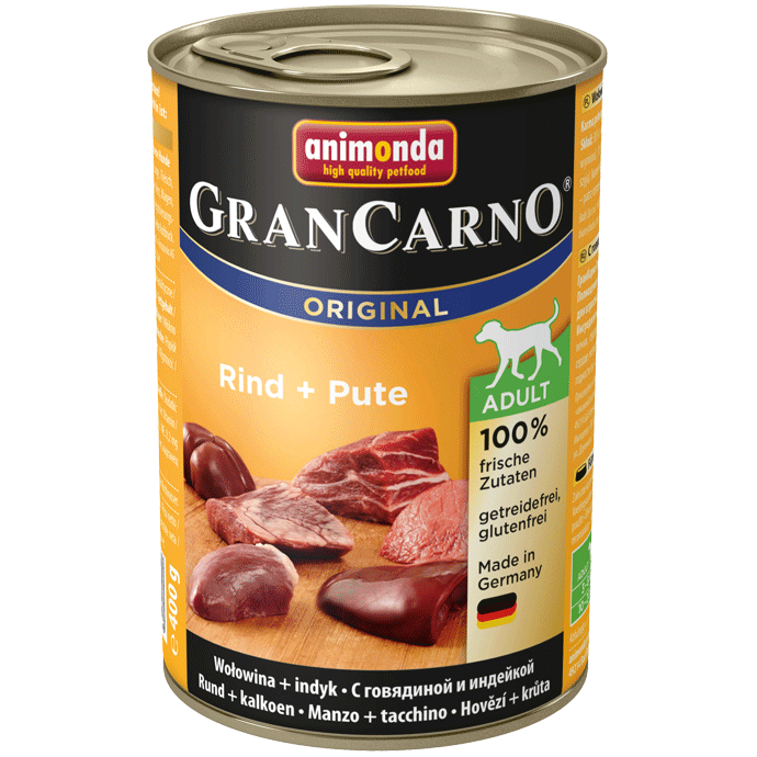 Animonda Dog Gran Carno Original Adult Rind und Pute 12 x 400 g