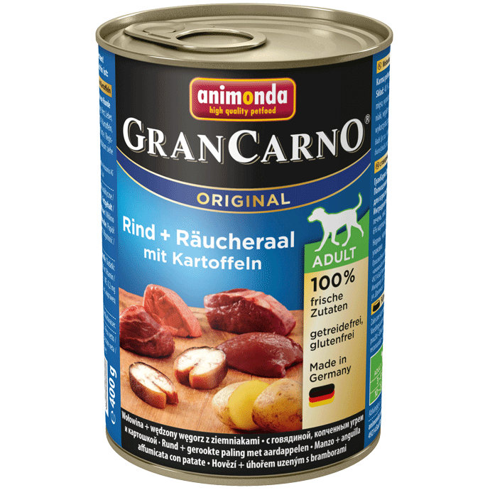 Animonda Dog Gran Carno Original Adult Räucheraal und Kartoffeln 400 g