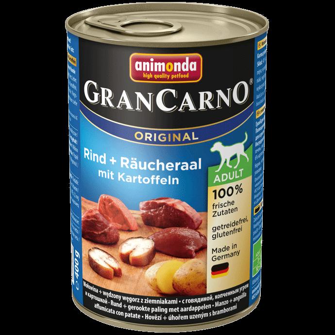 Animonda Dog Gran Carno Original Adult Räucheraal und Kartoffeln 12 x 400 g