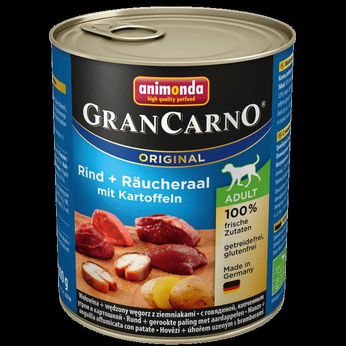 Animonda Dog Gran Carno Original Adult Räucheraal und Kartoffeln 800 g