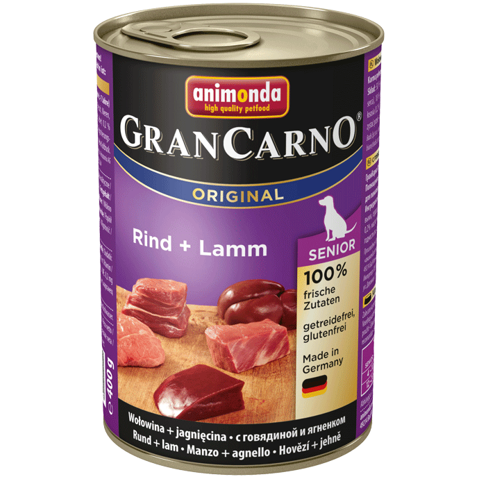 Animonda Dog Gran Carno Original Senior Rind und Lamm 400 g