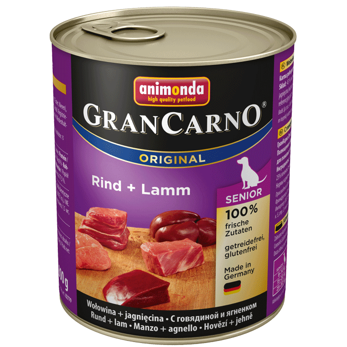 Animonda Dog Gran Carno Original Senior Rind und Lamm 800 g