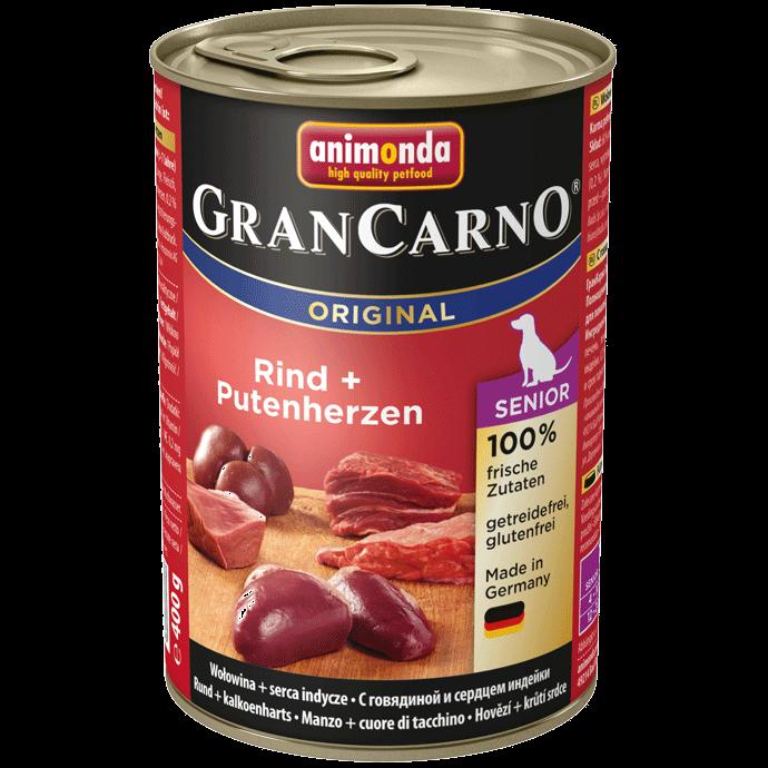 Animonda Dog Gran Carno Original Senior Rind und Putenherzen 400 g