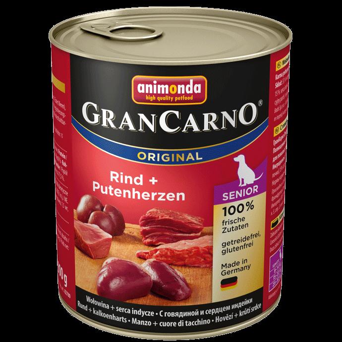 Animonda Dog Gran Carno Original Senior Rind und Putenherzen 800 g