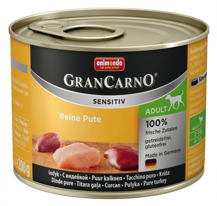 Animonda Dog Gran Carno Sensitiv Adult Reine Pute 200 g