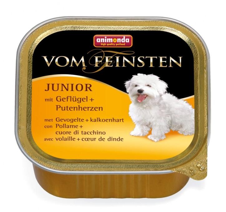 Animonda Dog vom Feinsten Junior Geflügel und Putenherz 22 x 150 g