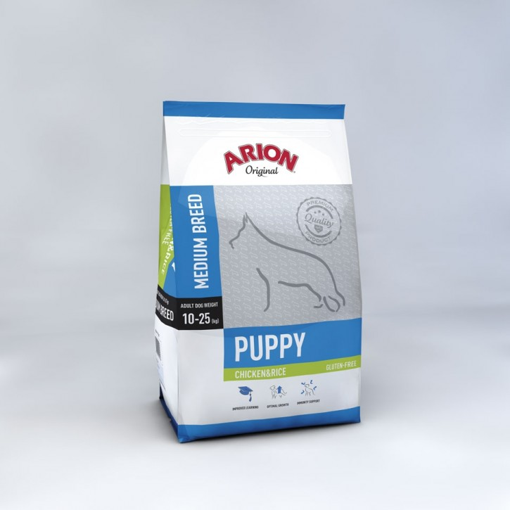 Arion Original Puppy Medium Breed Chicken & Rice 3 kg oder 12 kg (SPARTIPP: unsere Staffelpreise)