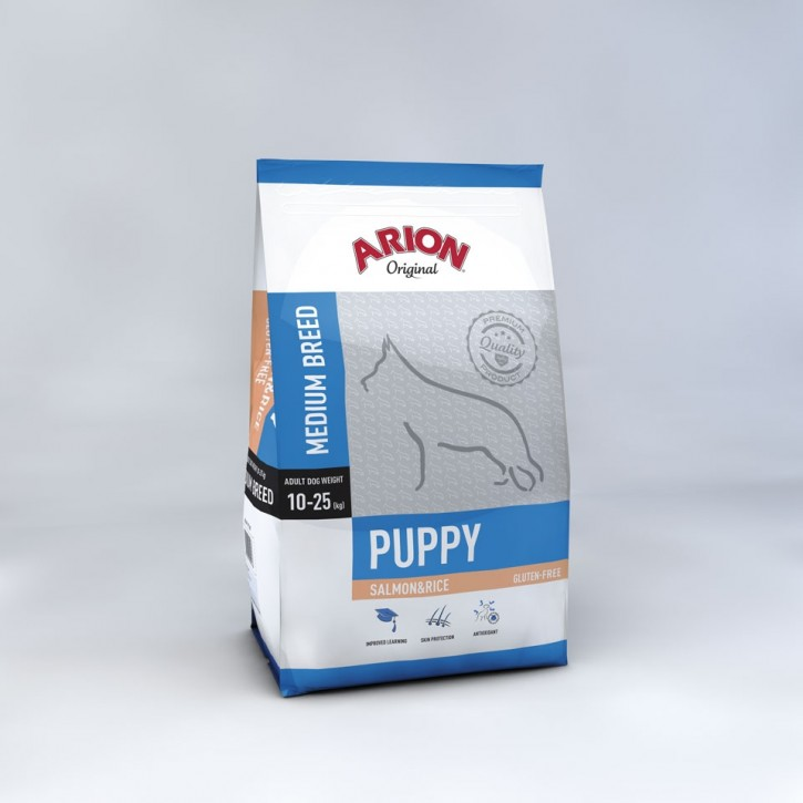 Arion Original Puppy Medium Breed Salmon & Rice 3 kg oder 12 kg (SPARTIPP: unsere Staffelpreise)