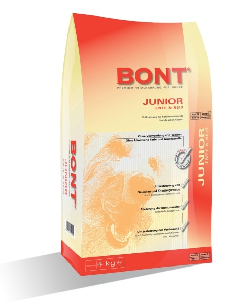 BONT Junior mit Ente und Reis 4 kg oder 15 kg (SPARTIPP: unsere Staffelpreise)