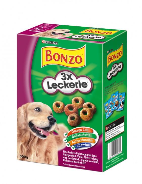 Bonzo 3 x Leckerle 6 x 500 g