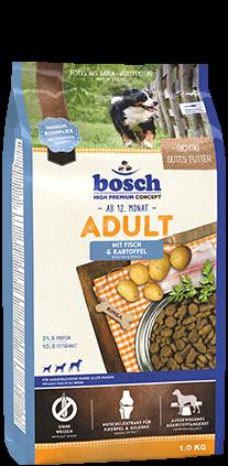 Bosch Adult Fisch & Kartoffel 1 kg, 3 kg oder 15 kg  (SPARTIPP: unsere Staffelpreise)