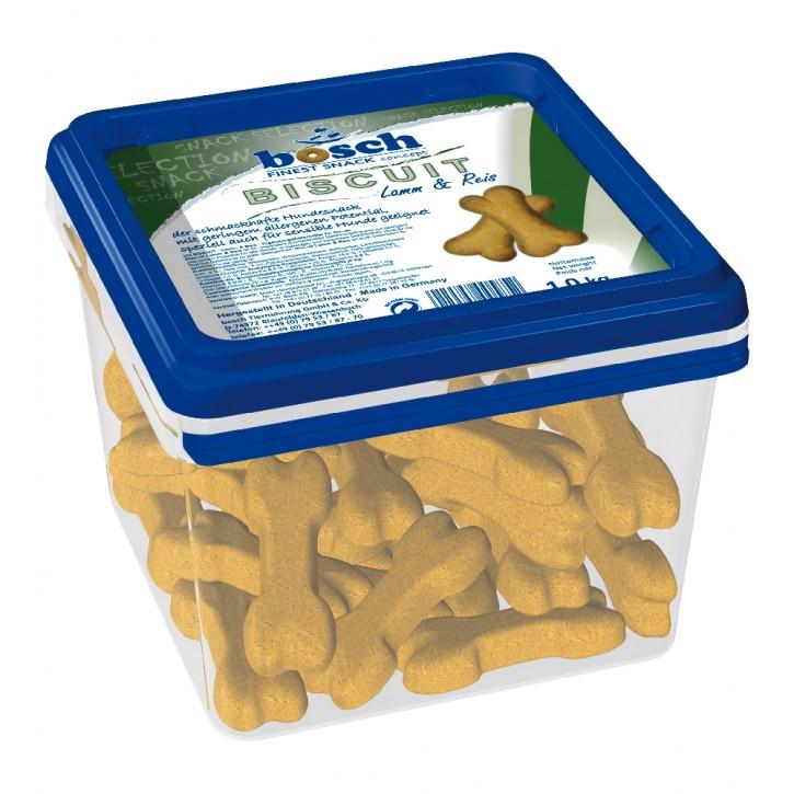 Bosch Dog Snack Biscuit Lamm & Reis 1 kg Eimer (SPARTIPP: unsere Staffelpreise)