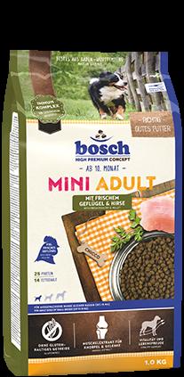 Bosch Mini Adult Geflügel & Hirse 1 kg oder 3 kg (SPARTIPP: unsere Staffelpreise)