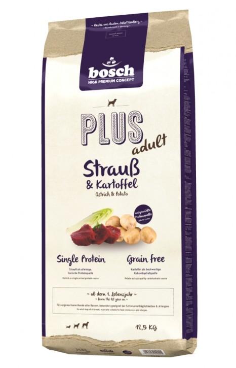 Bosch Plus Adult Strauß & Kartoffel 1 kg, 2,5 kg oder 12,5 kg (SPARTIPP: unsere Staffelpreise)