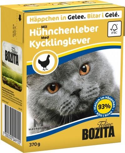 Bozita Cat Häppchen in Gelee mit Hühnchenleber 16 x 370 g