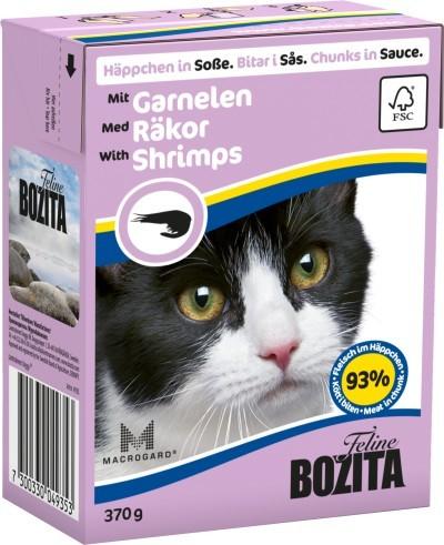 Bozita Cat Häppchen in Soße mit Garnele 16 x 370 g
