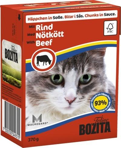 Bozita Cat Häppchen in Soße mit Rind 16 x 370 g