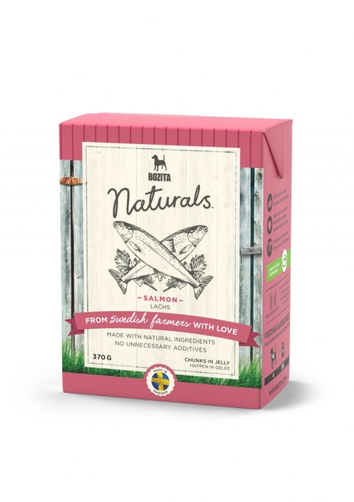 Bozita Dog Naturals Happen in Gelee Lachs 16 x 370 g