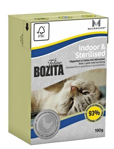 Bozita Feline Indoor & Sterilised Häppchen in Gelee mit Hühnchen 16 x 190 g