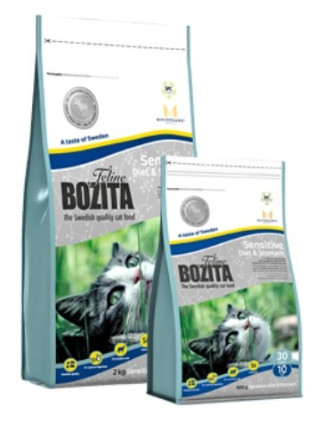Bozita Feline Sensitive Diet & Stomach 400 g, 2 kg oder 10 kg (SPARTIPP: unsere Staffelpreise)