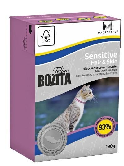 Bozita Feline Sensitive Hair & Skin Häppchen in Gelee mit Lachs 16 x 190 g