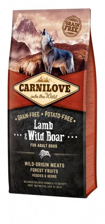 Carnilove Dog Adult Lamm & Wildschwein 1,5 kg oder 12 kg (SPARTIPP: unsere Staffelpreise)