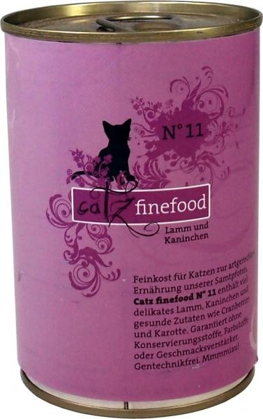 Catz finefood No.11 Lamm & Kaninchen 6 x 400 g