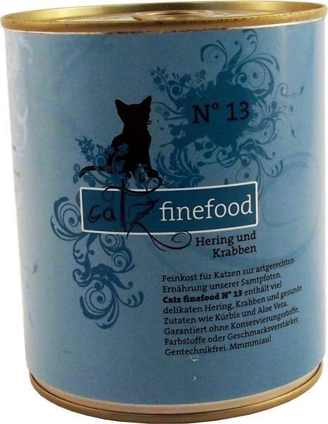 Catz finefood No. 13 Hering & Krabben 6 x 800 g