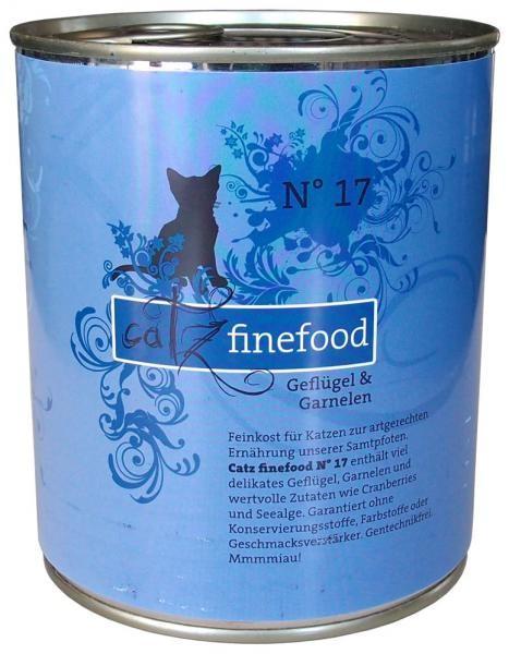 Catz finefood No. 17 Geflügel & Garnelen 6 x 800 g