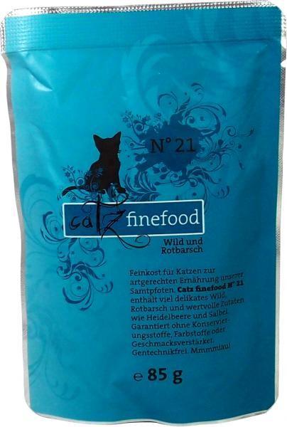 Catz finefood No. 21 Wild & Rotbarsch 16 x 85 g