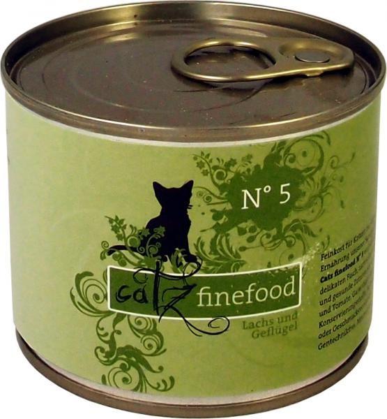 Catz finefood No. 5 Lachs & Geflügel 85 g, 200 g, 400 g oder 800 g