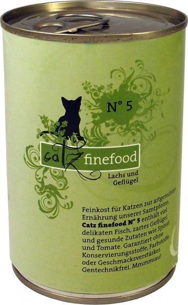 Catz finefood No. 5 Lachs & Geflügel 6 x 400 g
