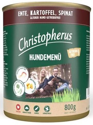 Christopherus Fleischmenü Senior mit Ente, Kartoffel und Spinat 800 g