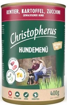 Christopherus Fleischmenü mit Rentier, Kartoffel und Zuccini 400 g